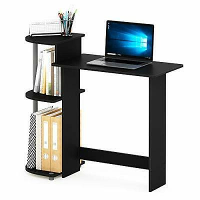 Student Desk Compact Desk Shelves Side Black/Grey For