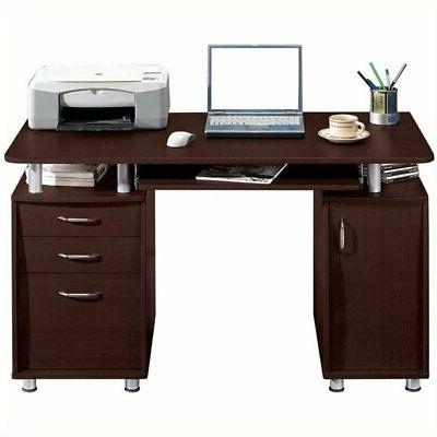 Pemberly Row Super Storage Computer Desk in Finish