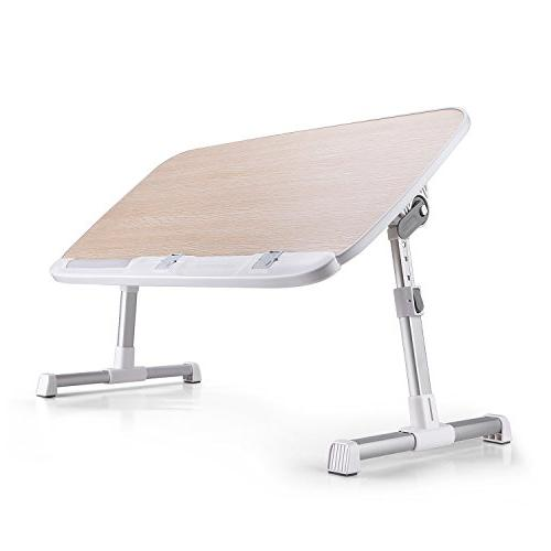 AboveTEK Laptop Lap Desk for Sofa Couch Height Adjustable Tablet Drawing Table, Computer Camping Table