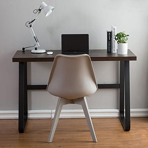 DYH Wood Desk, PC Home Office Study Table, Espresso 47 inch