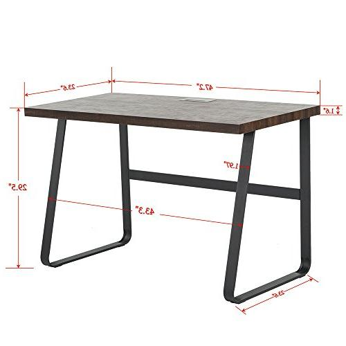 Wood Office Study Table, 47 inch