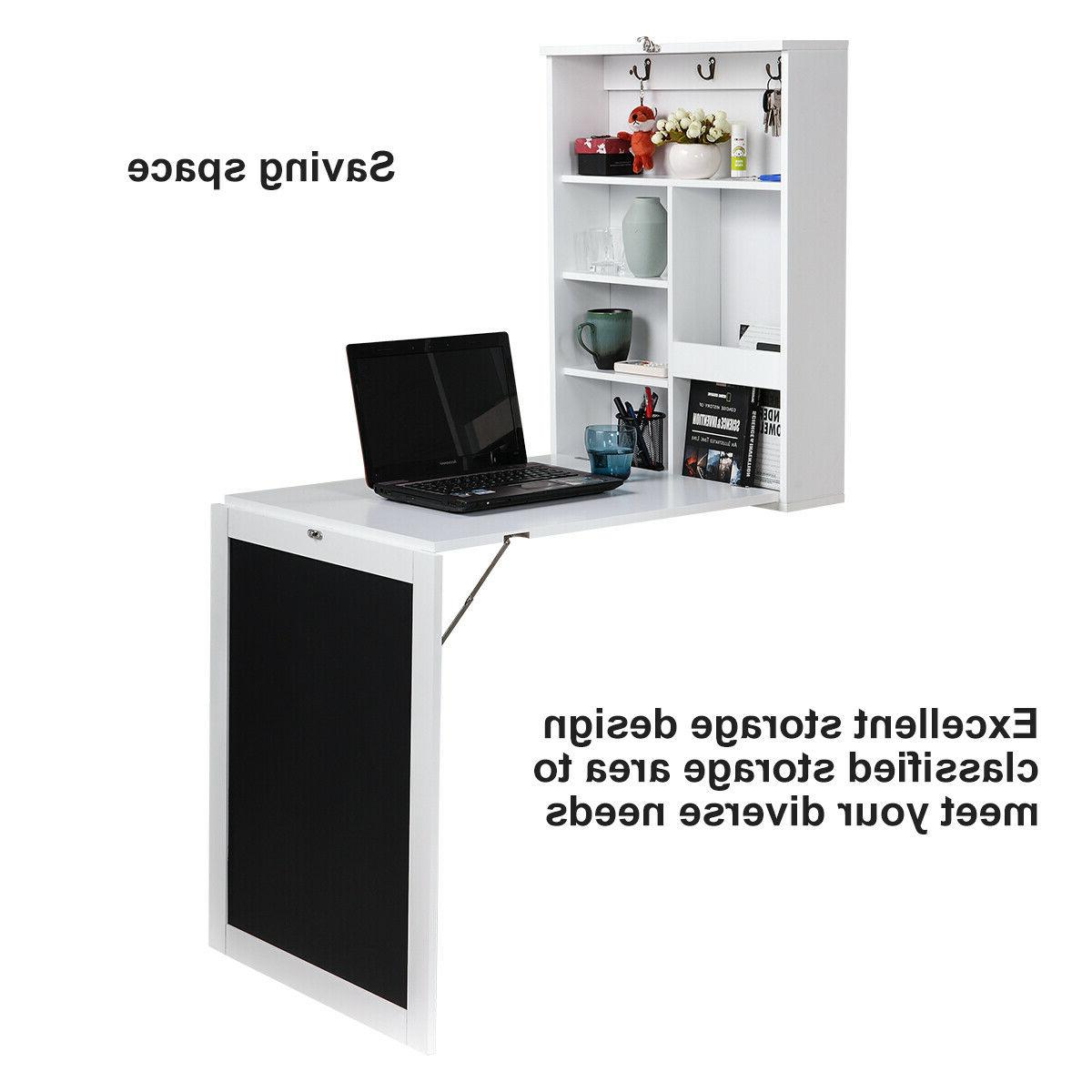 wall mount writing table folding computer desk