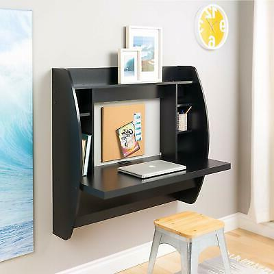 Wall Floating Computer Desk Home Furniture Black