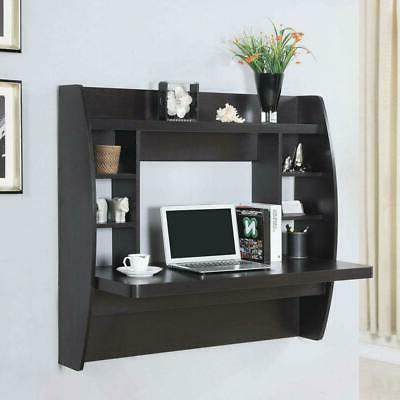wall mounted floating office computer desk storage