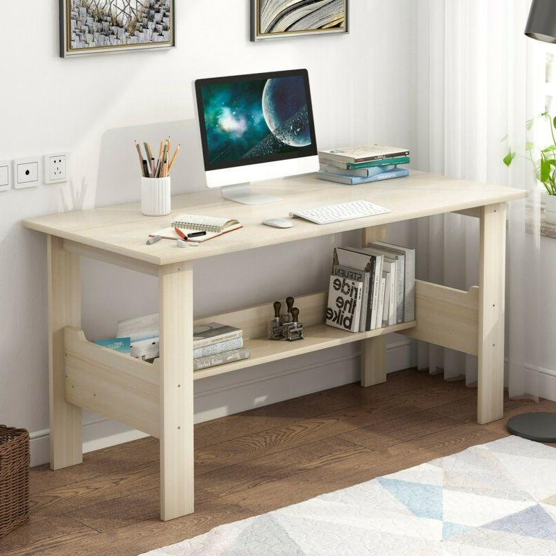 """39"""" Home Solid Wood Small Desk Bedroom Study Table Office De"""