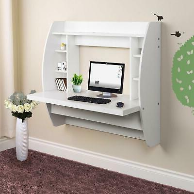 white home floating computer wall mounted pc