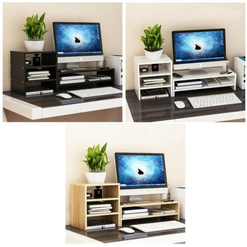wood computer monitor screen riser tv stand