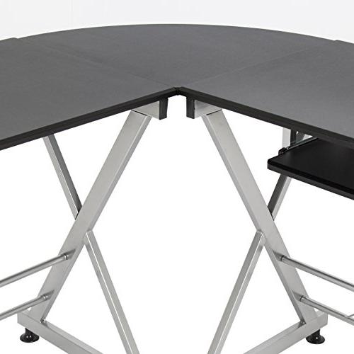 Best Choice L-Shape Desk PC Laptop Table Home