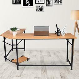 L-Shape Corner Home Office Computer Desk PC Laptop Table Wor