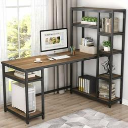 Tribesigns L-Shape Reversible Computer Desk with Storage She