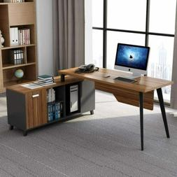 "Tribesigns L-Shaped Computer Desk,55"" Executive Office Desk"