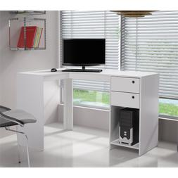 Bowery Hill L-Shaped Computer Desk in White