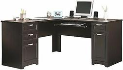 l shaped computer desk magellan collection espresso