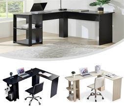 L-Shaped Computer Desk PC Laptop Table Corner Workstation Ho