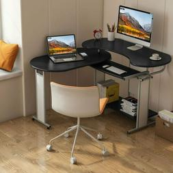 L-Shaped Computer Desk, Rotating Corner Desk & Modern Office