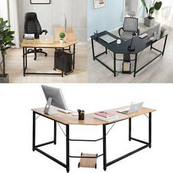 L-Shaped Corner Computer Desk Home Office Study Laptop PC Wo