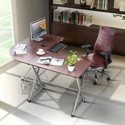 L-Shaped Corner Computer Desk PC Laptop Table Workstation Wo