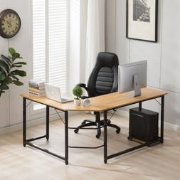 L-Shaped Desk Corner Computer Desk Workstation Home Office D