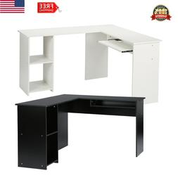 L-Shaped Desk Corner Computer Gaming PC Table Laptop W/ Keyb