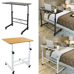 Laptop Stand Table Rolling Cart  Computer Desk Sofa Bed  Adj