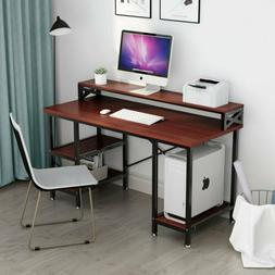 Large Modern Office Desk Computer Table with Hutch & Shelves