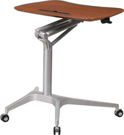 LOT OF 8 ADJUSTABLE HT MOBILE SIT-DOWN, STAND-UP MAHOGANY CO