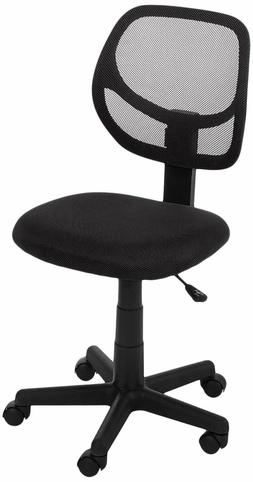 Low-Back Computer Task/Desk Chair with Swivel Casters - Blac