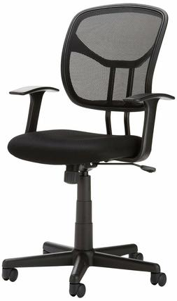 AmazonBasics Mid-Back Black Mesh Chair