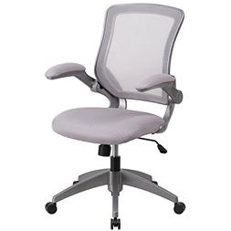 Mid-Back Mesh Conference Chair with Arms, Gray