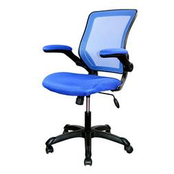 Mid-Back Mesh Task Chair with Flip-Up Arms, Blue
