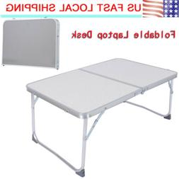 Mini Portable Laptop Desk Bed Stand Notebook Folding Table L