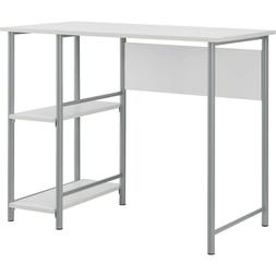 Minimal Modern Metal Desk with 2 Side Shelves, Home Office o