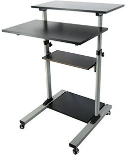 Mobile Height Adjustable Stand Up Desk/ Computer Work Statio