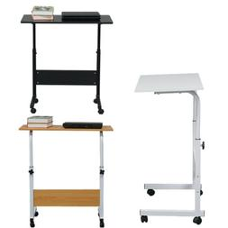Desk Laptop Cart Rolling Computer Table Notebook Stand Tray