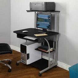 Mobile Computer Laptop PC Tower Desk Table Shelf Home Office