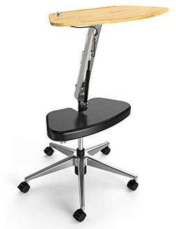 RoomyRoc Mobile Laptop Desk/Cart/Stand with Adjustable Table