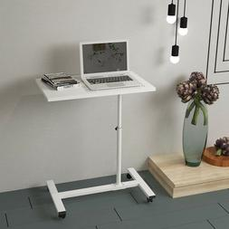 Mobile Laptop Stand Table Tray Computer Desk Adjustable Heig