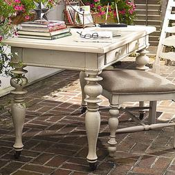 Modern Farmhouse French Turned Legs Antique White Writing Co