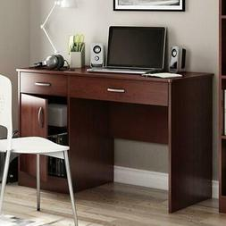 modern home office computer desk in royal