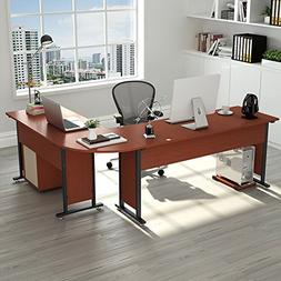 """83"""" Tribesigns Modern L-Shaped Desk with Return and Mobile F"""