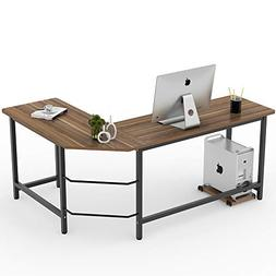 Tribesigns Modern L-Shaped Desk Corner Computer Desk PC Lapt
