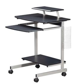 Modern Mobile Computer Desk with a Pullout Keyboard Tray and