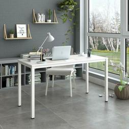 "Modern Simple Computer Desk 55"" Large Home Office Table with"