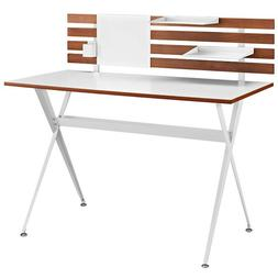 MODERN WOOD PANEL WRITING DRAFTING COMPUTER DESK IN CHERRY T