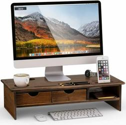 Tribesigns Monitor Stand Riser with Storage Organizer Drawer