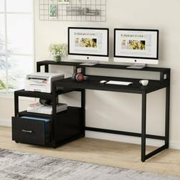 multi fuctional desk with hutch and file