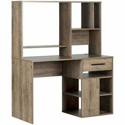 South Shore Narrow Home Office Computer Desk with Hutch, Wea