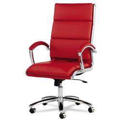 Alera Neratoli High-Back Swivel/Tilt Chair, Red Soft-Touch L