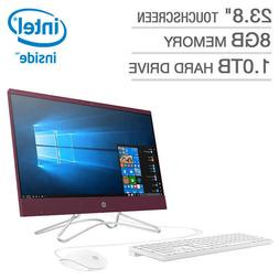 "NEW HP 24-f0027mb 23.8"" Touchscreen All-in-One Desktop PC Co"
