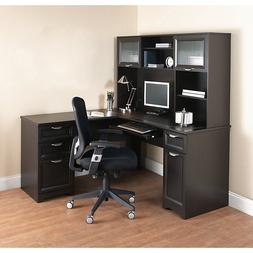 NEW L-Shaped Office DESK with HUTCH Computer Executive Corne